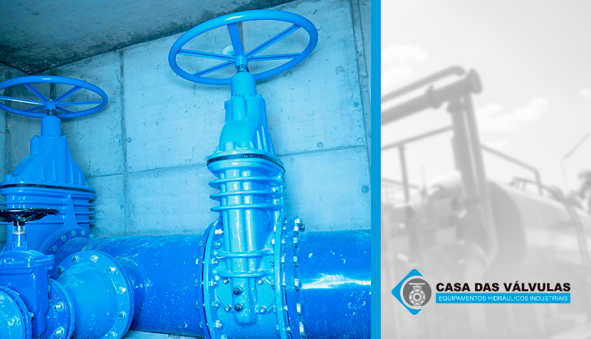 Como as válvulas são usadas no tratamento de águas contaminadas?